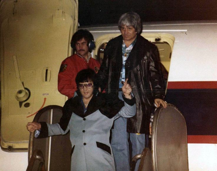 After a concert in Charlotte, NC February 20, 1977 with bodyguard Ed Parker.