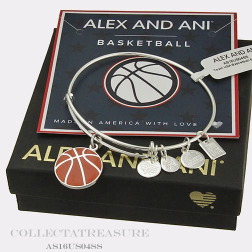 Bracelets 50637: Authentic Alex And Ani Team Usa Basketball Shiny Silver Charm Bangle BUY IT NOW ONLY: $31.0