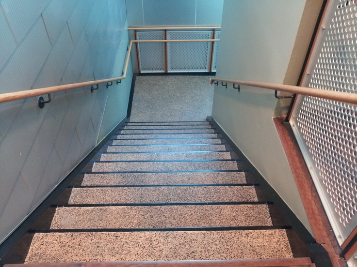 Epoxy Flaked Stairs And Landings Epoxy Floors