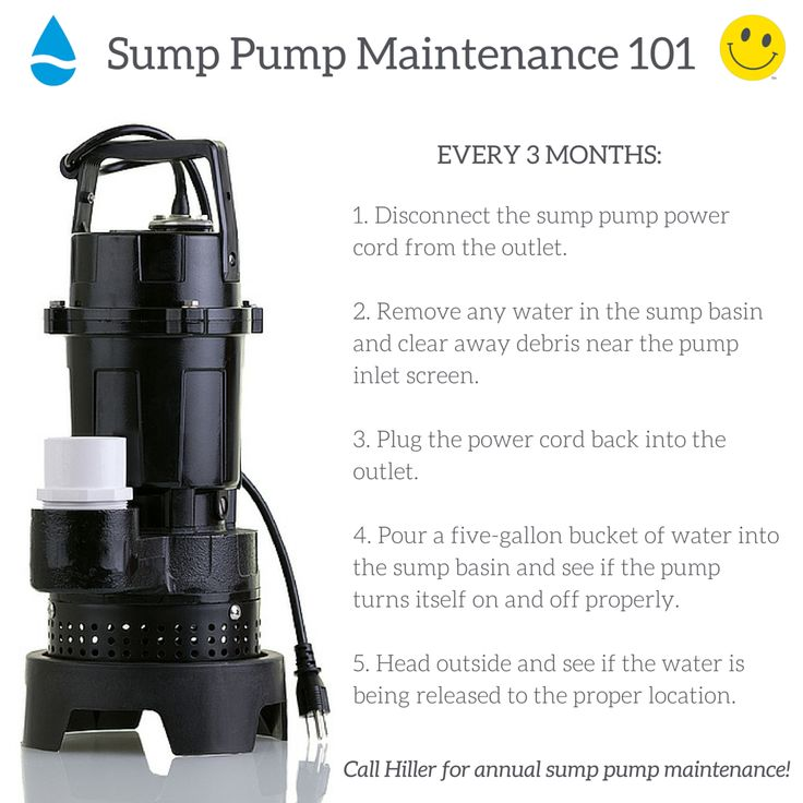 How to maintain a sump pump