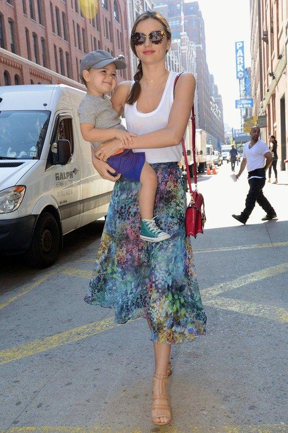 New York - July 8 2013 Miranda Kerr and son Flynn Bloom.