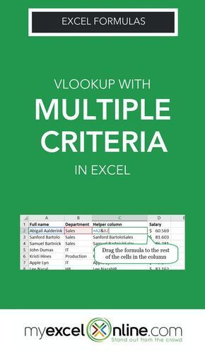 Excel Vlookup multiple criteria VLookup Multiple Creteria