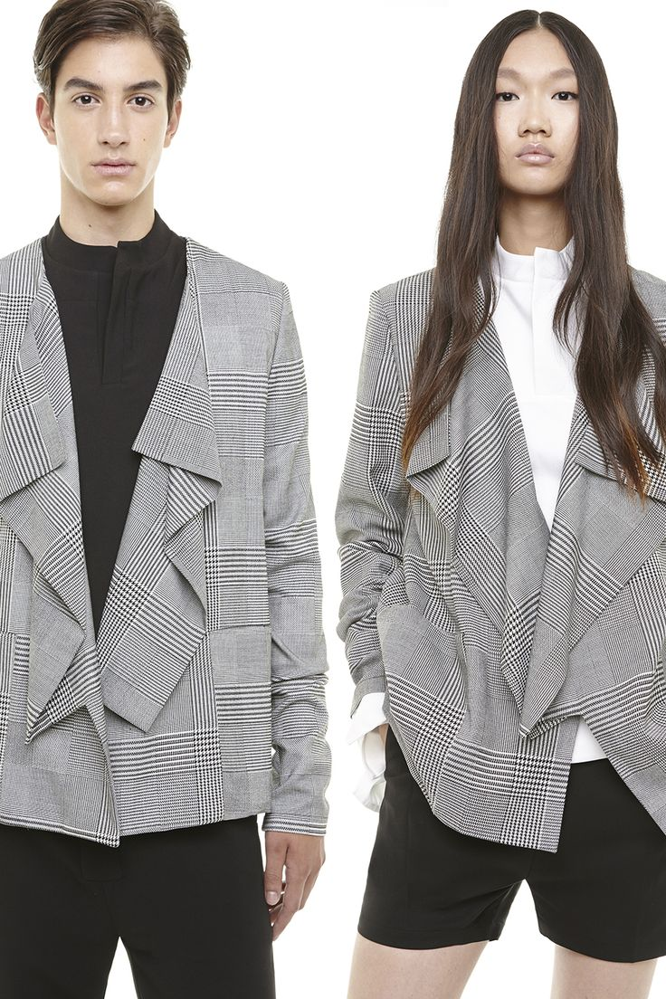 RAD HOURANI UNISEX PLAID CARDIGAN - SHOP EXCLUSIVELY AT http://www.radhourani.com/collections/outerwear/products/ca001pl-unisex-signature-cardigan#.U_0d-0g3cnU