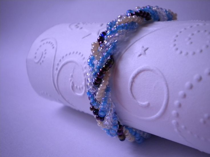 Plaited Bead Bracelet
