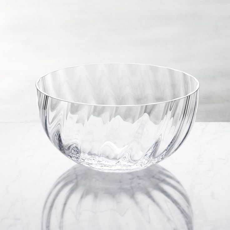Julia Large Glass Serving Bowl - Crate and Barrel