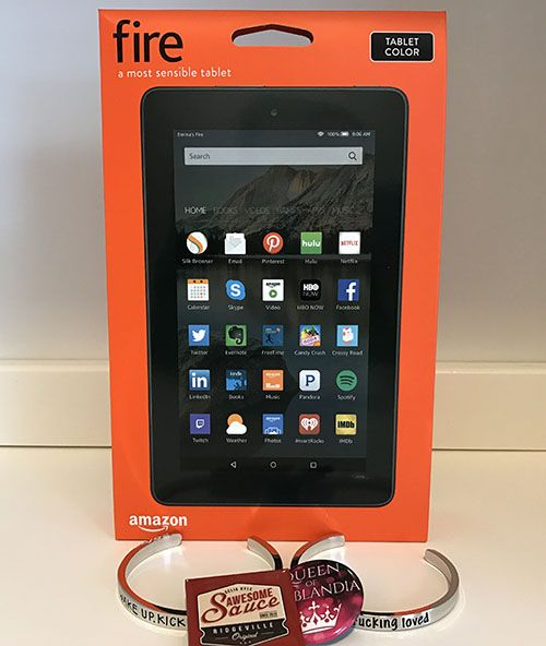 Ivoth Kindle Fire tablet, two bracelets, and kick arse magnet giveaway