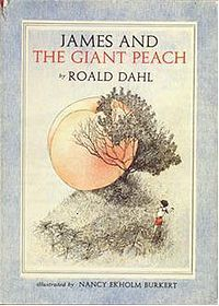 James and the Giant Peach by Roald Dahl (the version illustrated by Nancy Ekholm Burkert) #books #kids