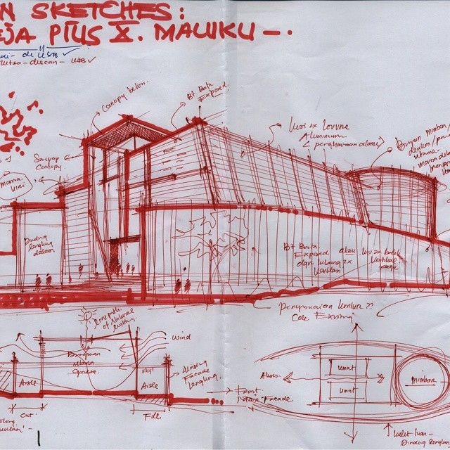 #julioarchitect #church #maluku #churchdesign #sketch #sketch_idea #sketching #sketches #conceptualsketches #concept #draw #drawing #drawings #architecture #architectures #architectural #sketches #models #idea... sketch everywhere...anytime....