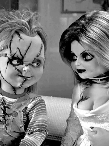 The Bride of Chucky,...I guess these would be horror flicks to a normal person, but they're quite funny and gory to me.