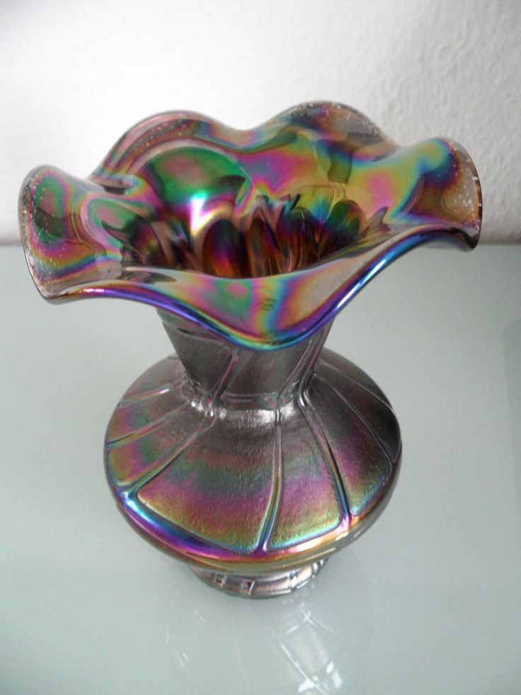 Glas Vase Joska Waldglashütte Silberberg-Kristall Bodenmais irisierend Art Loetz | Antiquitäten & Kunst, Glas & Kristall, Dekorglas | eBay!