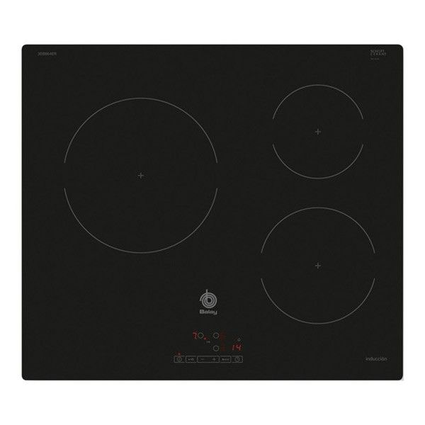 323 73 Plaque A Induction Balay 3eb864er 60 Cm Noir Verre 3