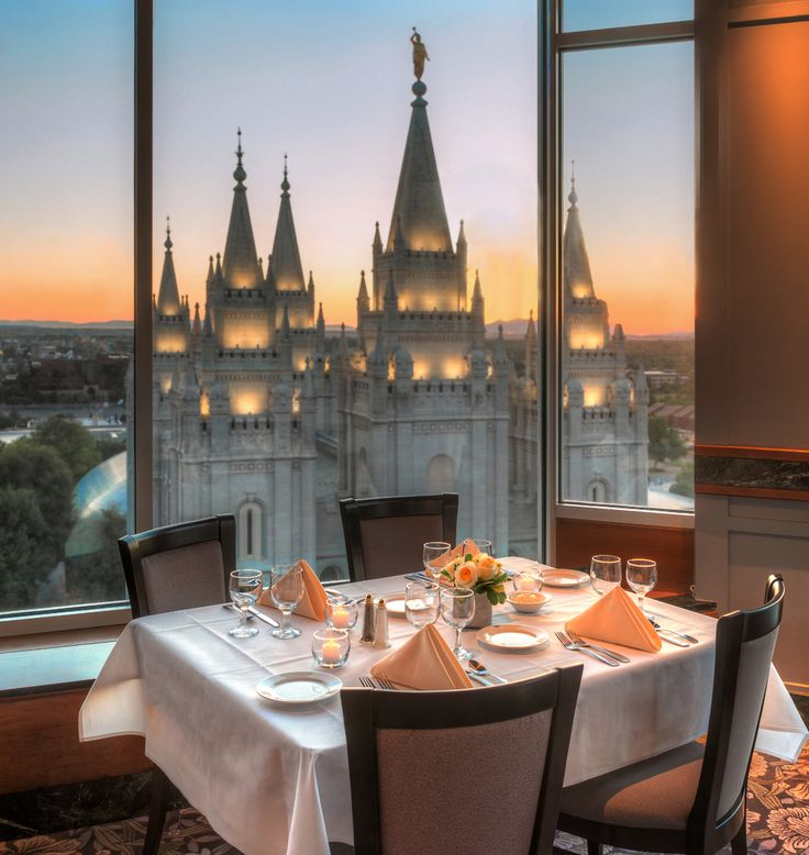 Dining on the 10th Floor. Best view of Temple Square - The Roof Restaurant