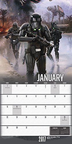 "Trends International 2017 Wall Calendar, September 2016 - December 2017, 11.5"" x 11.5"", Star Wars: R"