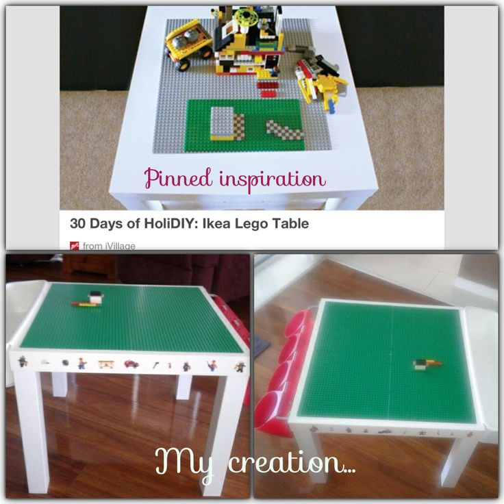 Ikea hack lego table my ikea playbook pinterest for Table lego ikea