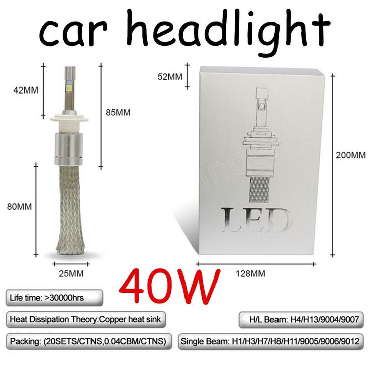 48.00$  Watch here - http://alidso.shopchina.info/go.php?t=32806375395 - one pair H4 LED Car Light 6000k Cool White Car Headlight Bulbs for 12V 24V 40W Original Lamp car accessory   #magazineonlinewebsite