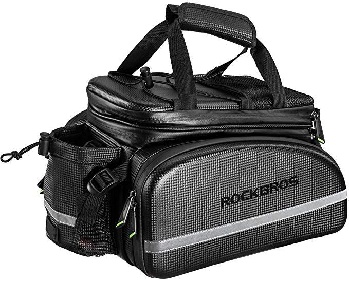 Large Capacity Waterproof Bike Backseat Bag Durable Bicycle Trunk Storage Bag Cycling Pannier Rear Rack Trunk Bag for Outdoor Traveling Commuting Bicycle Rear Seat Bag