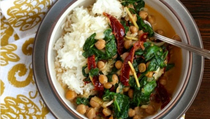 Melt-in-the-Mouth Chickpeas and Spinach in Coconut Milk (Make Ahead Freezer Meals)