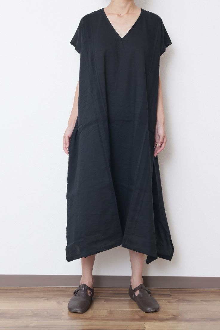 basic wear fuwa-T LONG Vネック