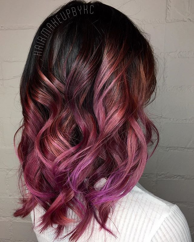 Reminds Me Of My Hair Right Now A Pretty Dark Pink Purple Ombre With Highs And Lows