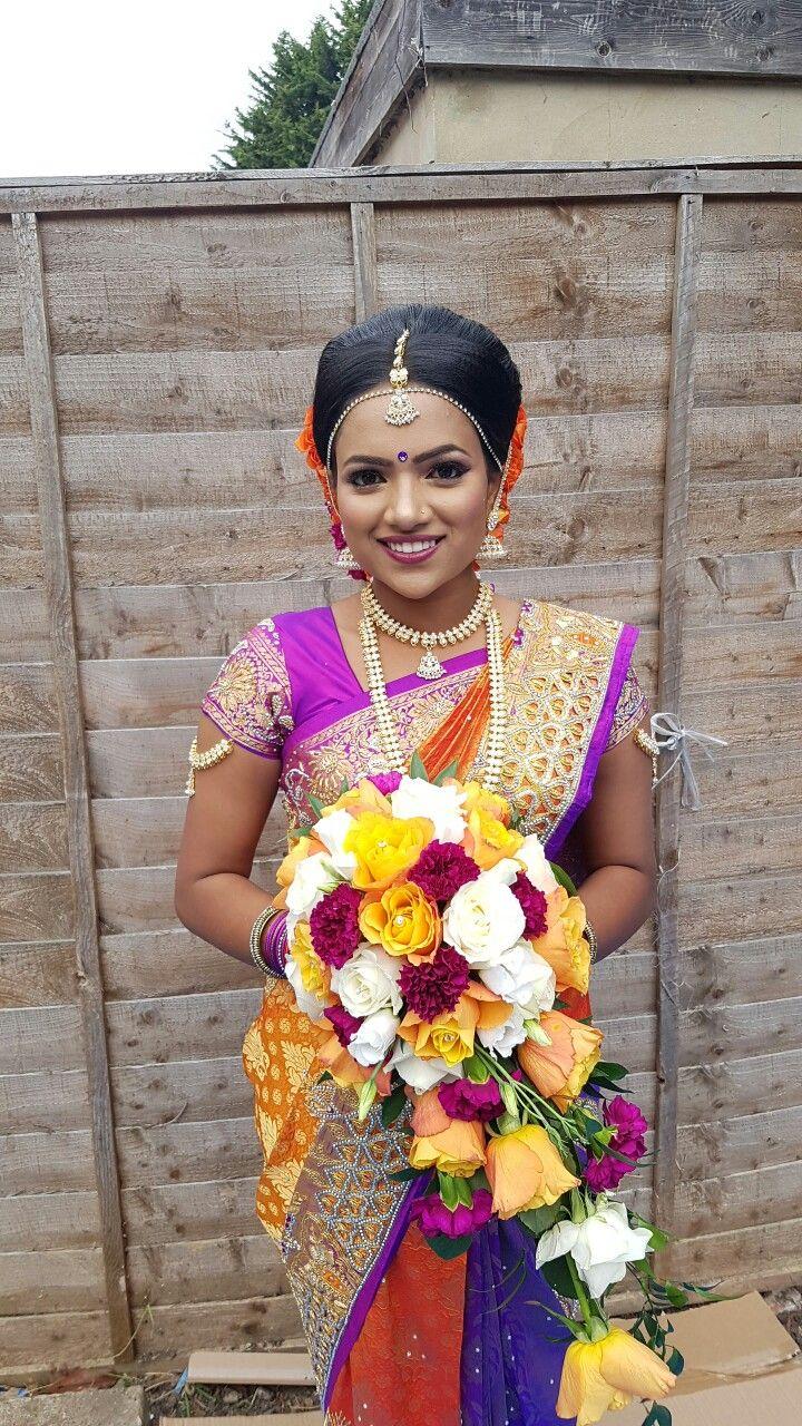 My beautiful bride Anusha.  Dressed her up for her Hindu Wedding.  #tamilbride #tamilwedding #bridals #southindianbride #southindianjewellery  #southindian bride