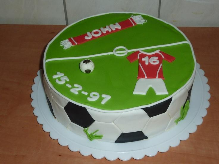 Voetbal verjaardagstaart