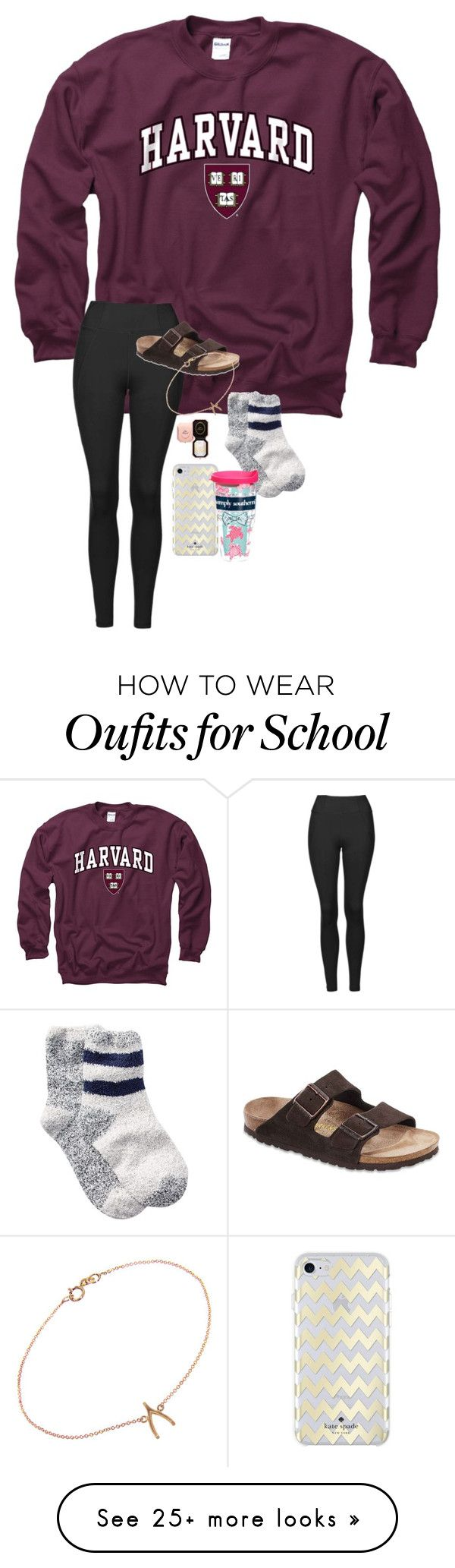 """nervous for tmw bc i have a high school placement test!!!☀️"" by prepstermaddy on Polyvore featuring Gameday Boots, Topshop, Birkenstock, Jennifer Meyer Jewelry, Too Faced Cosmetics, Free Press, Kate Spade and Tervis"