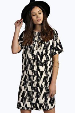 Rina Aztec Short Sleeve Shift Dress