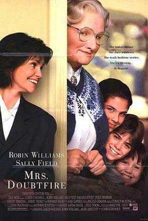 """Mrs. Doubtfire: """"Oh, I thought I saw Clint Eastwood, that would make my day! He is such a stud muffin."""""""
