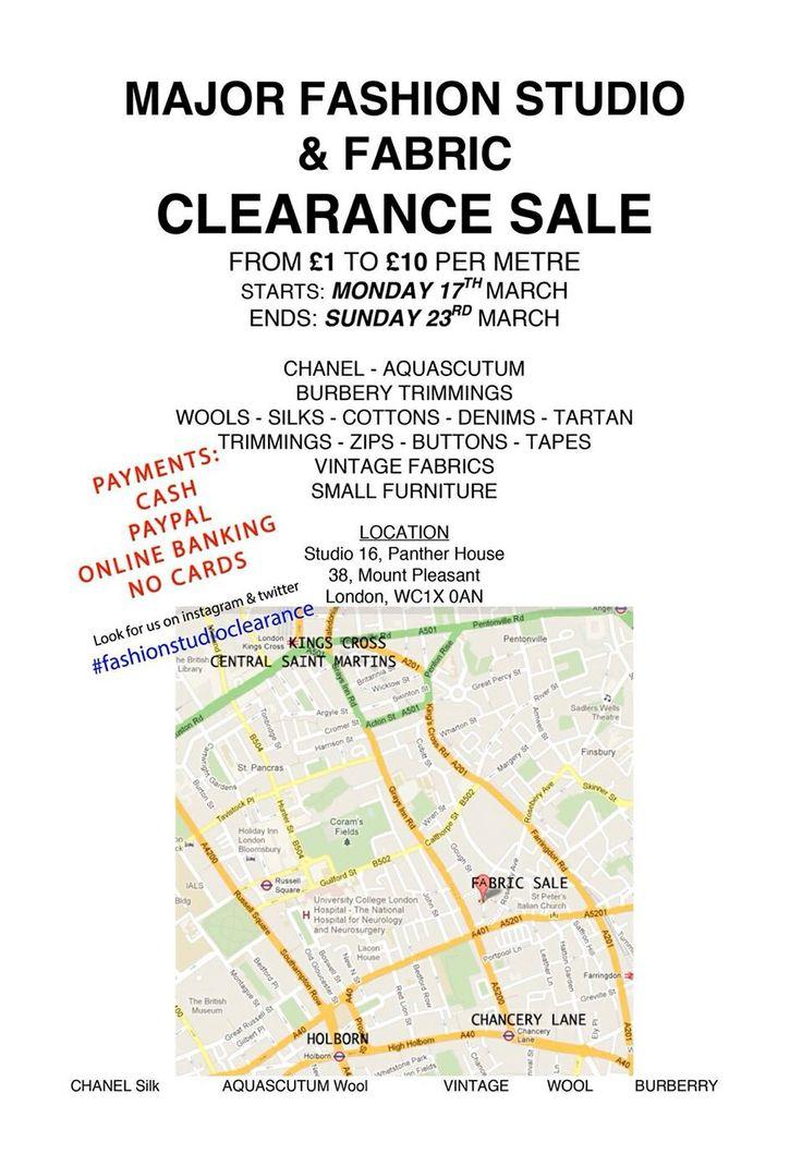 MAJOR FABRIC SALE LONDON #fashionstudioclearance #fabricsale #centralsaintmartins #londoncollegeoffashion