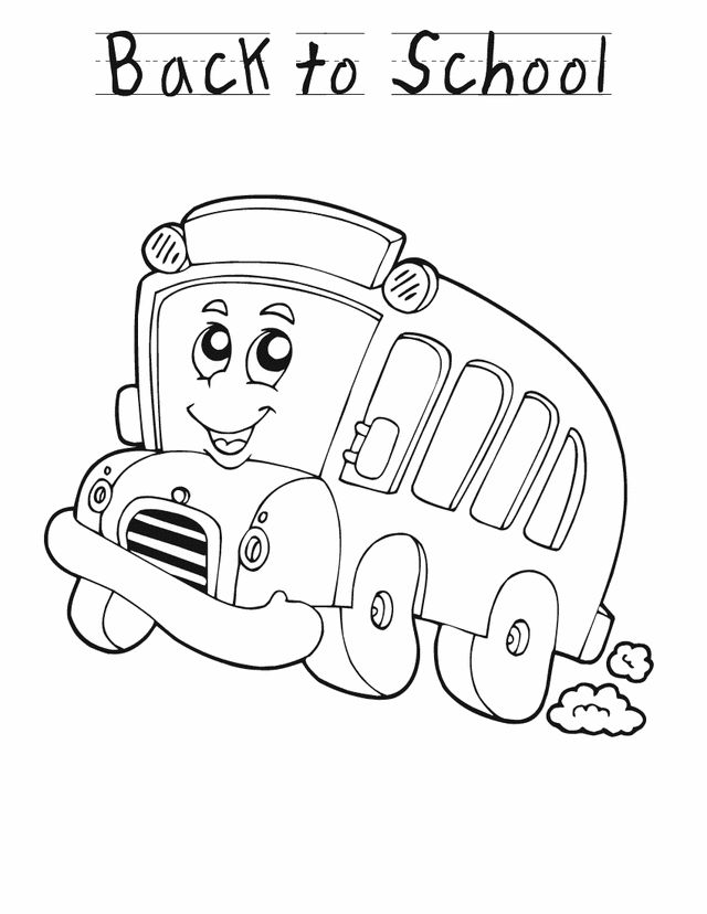 preschool back to school activities back to school bus free printable coloring pages - First Day Of School Coloring Sheets For Kindergarten