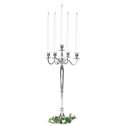 Amazon.de: Kerzenleuchter 5-armig Leuchter Kerzenständer Kandelaber in Silber, Schwarz, Weiß oder