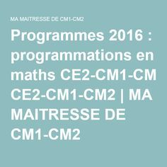 Programmes 2016 programmations en maths ce2 cm1 cm2 for A portee de maths cm1