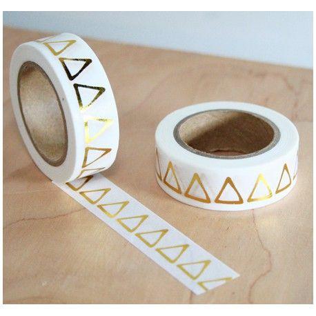 masking tape triangle doré