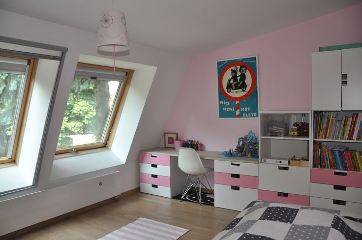 IKEA Stuva Girls room with desk hack.