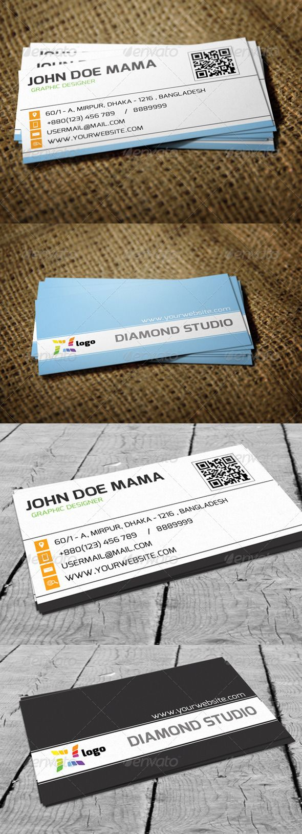 95 best print templates images on pinterest print templates font modern corporate business card reheart Images