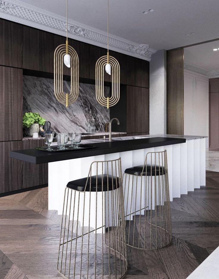 Modern Kitchen Design Interiordesign Kitchendesign Kitchen Cuisine Moderne Deco Maison Cuisines Design