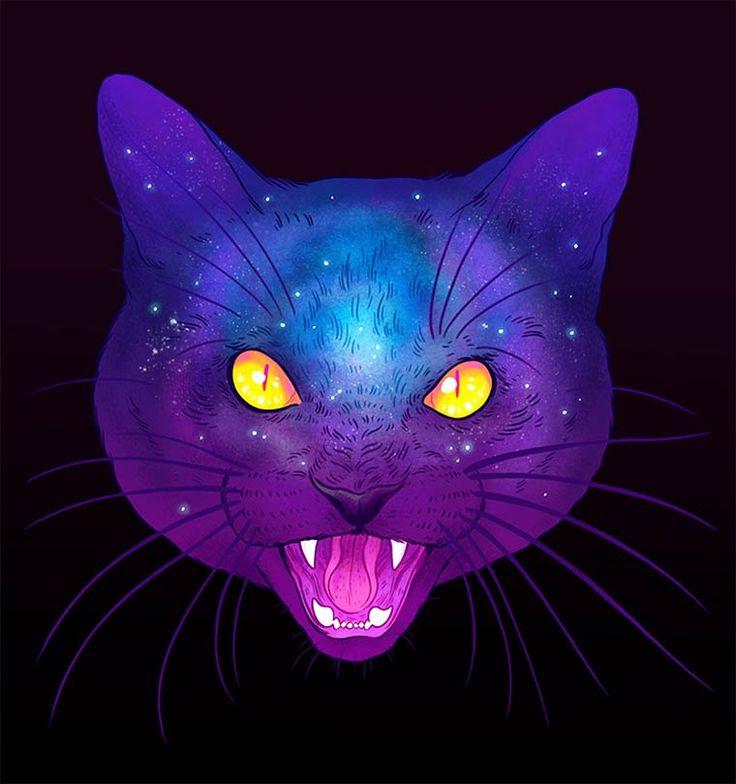 25+ melhores ideias sobre Gato psicodélico no Pinterest ...