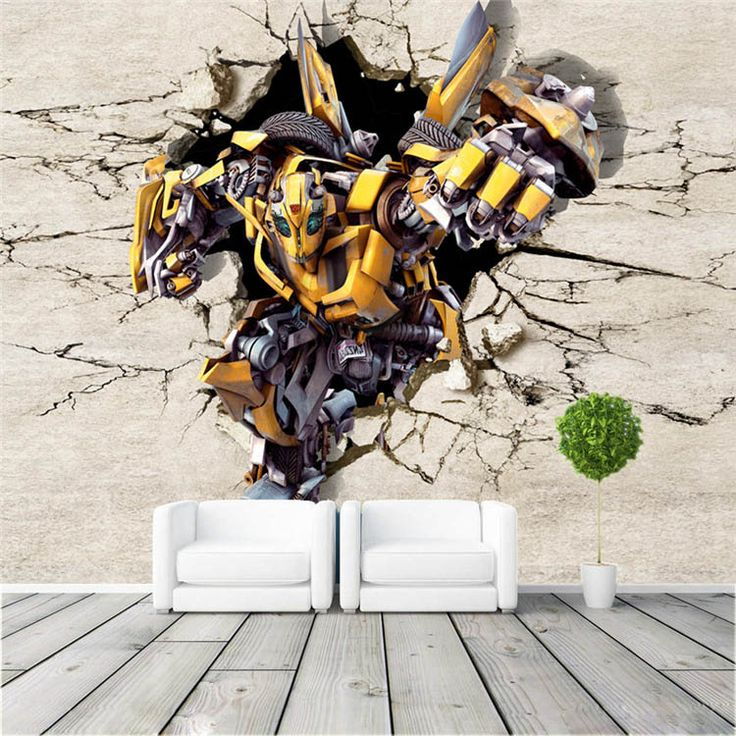 3D Bumblebee Wallpaper Custom Wall Mural Transformers Photo Wallpaper Silk  Large Wall Art Room Decor Ceiling