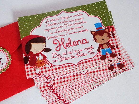 Convite Tradicional  Cerca de 10x7cm    Acompanha envelope e tag com nome do aniversariante. Envelope enviado na cor que estiver disponível, de forma a combinar com o tema.    Fazemos em qualquer cor e tema.    Consulte o prazo !