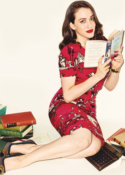 Kat Dennings. I wish I could be this hot reading a book