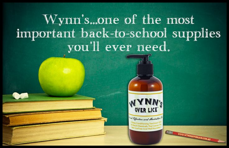 Wynn's...one of the most important back-to-school supplies you'll ever need. All natural, highly effective, Australian-made head lice treatment. www.wynnsoverlice.com.au