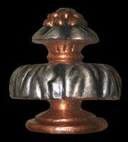 Athemion Finial in Silver and Copper Gild Finish