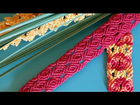 How to make a rose patterned macrame bracelet? / Cómo hacer una pulsera de macrame? This is a tutorial with a simple rose pattern, which you can use for macr...