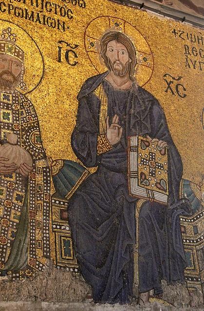 Byzantine mosaic: Turkey, Hagia Sophia (Istanbul).