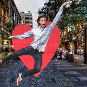 DANCING - An inspiring social artist creating human synergy in festivals and in public.