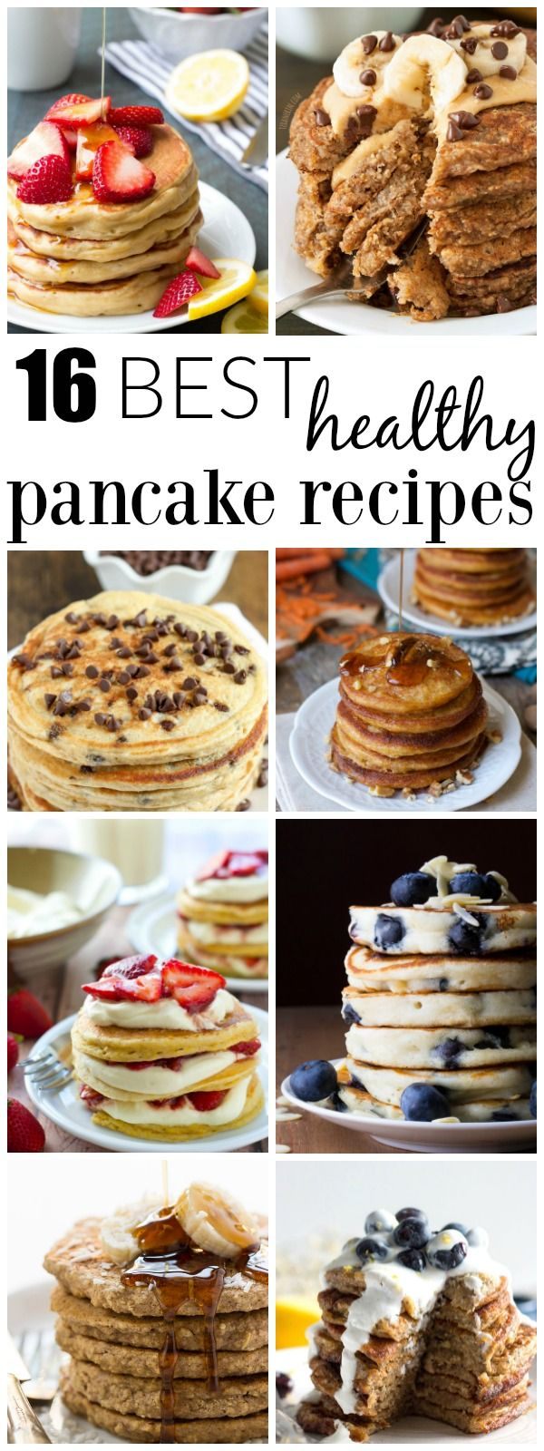 The best healthy pancake recipes, perfect for a weekend breakfast, Mother's Day, or breakfast for dinner! Most of these easy recipes are freezer-friendly!