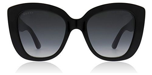 7b2d6f5c2b1 Gucci GG0327S 001 Black GG0327S Cats Eyes Sunglasses Lens Category 3 Size  52mm