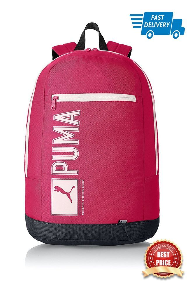7e44071642 Girl Teen Ladies Puma Pioneer Backpack Pink Rucksack Carryall School  College Bag  PUMA  Backpack