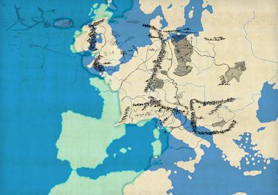 Lalaith's Middle-earth Science Pages: A map of Europe projected on Middle-earth