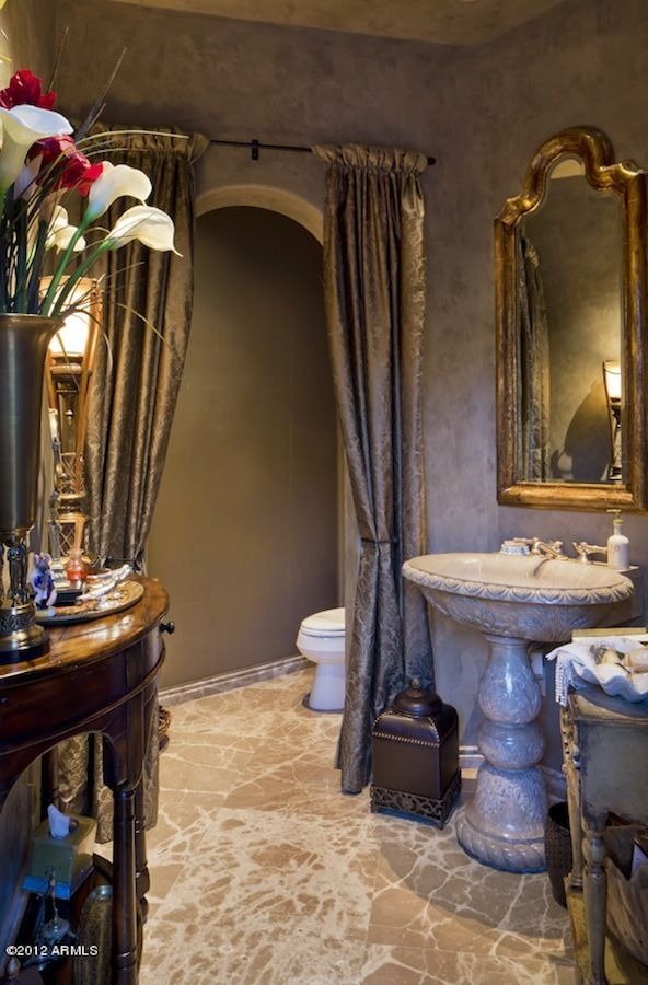 The sink and pedestal